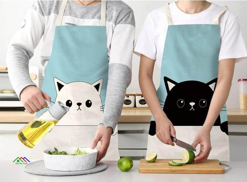 Funny Naughty Cat Kitchen Apron Kitchen Aprons