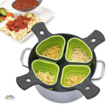 Foldable Silicone Colander Strainer Kitchen Colanders
