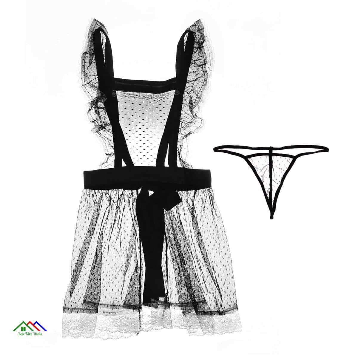 Sexy Maid Uniform Underwear Apron Kitchen Aprons