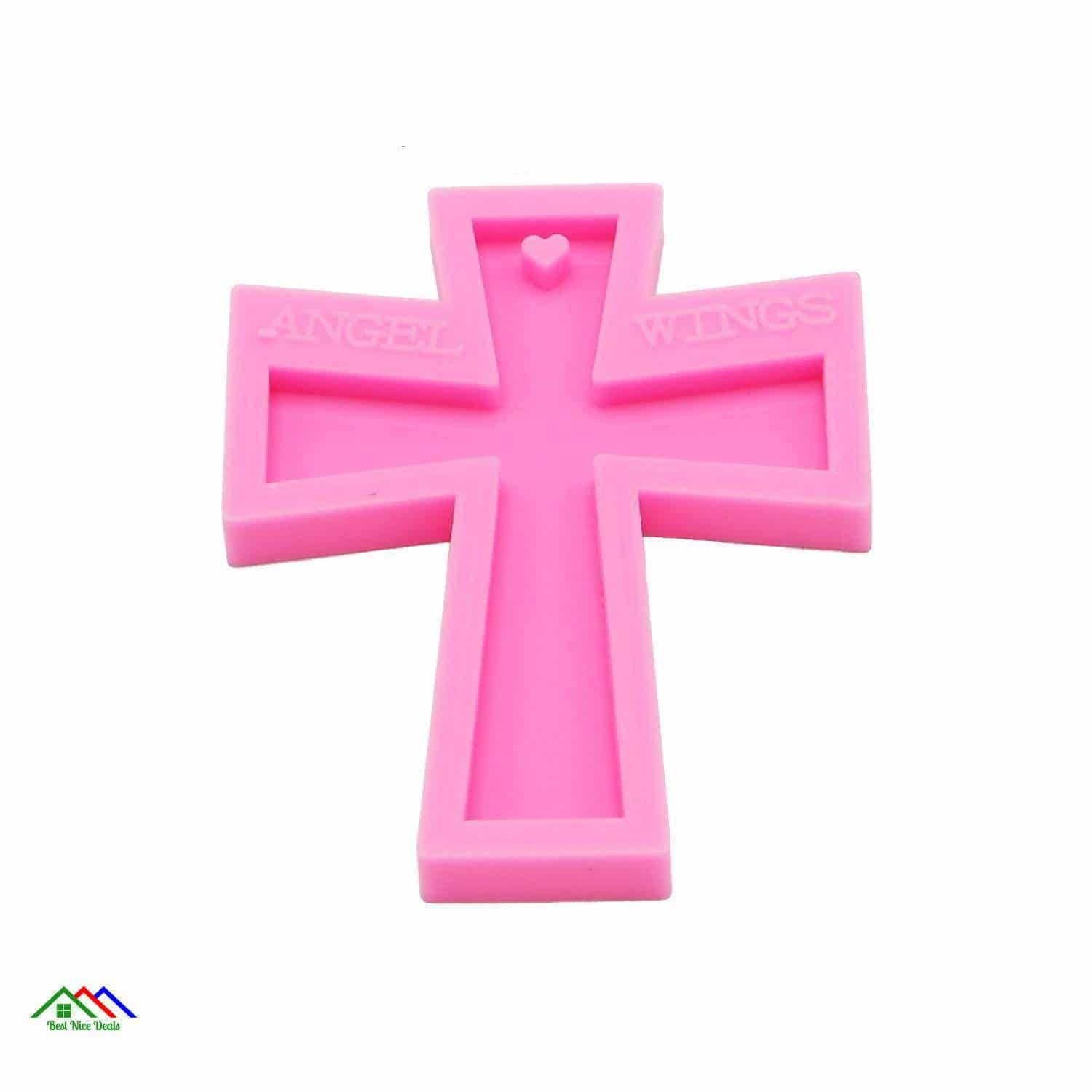 Cross Patterned Square Silicone Religious Keychain Kitchen Silicone Molds