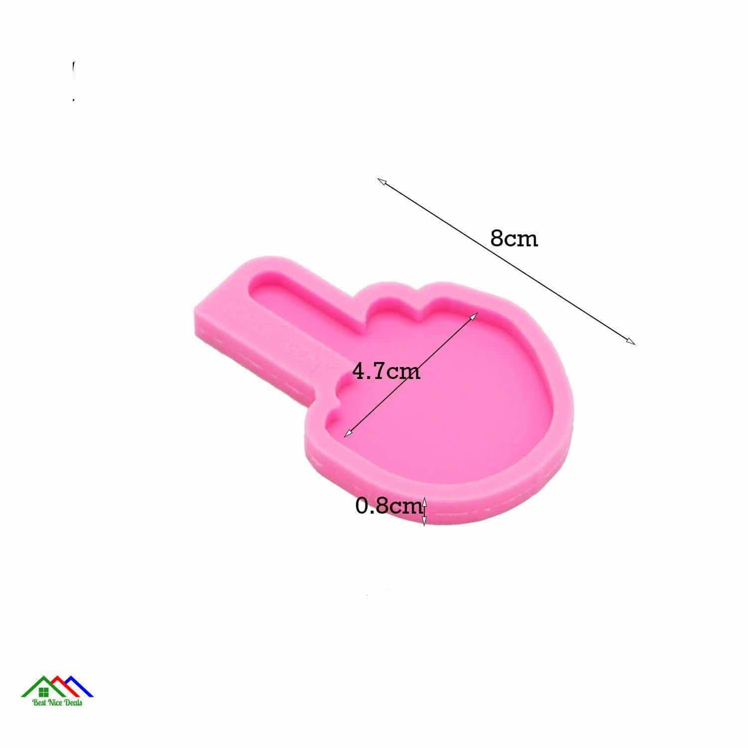Middle Finger Silicone Keychain Kitchen Silicone Molds