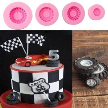 Tires Wheel Fondant Cake Mold Kitchen Silicone Molds
