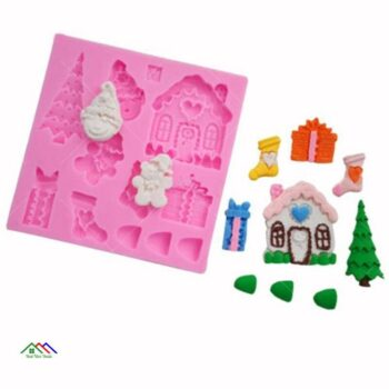 3D Christmas Silicone Mold Shapes Kitchen Silicone Molds