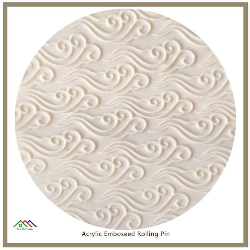 Engraved Embossing Propitious Cloud Pattern Kitchen Rolling Pins