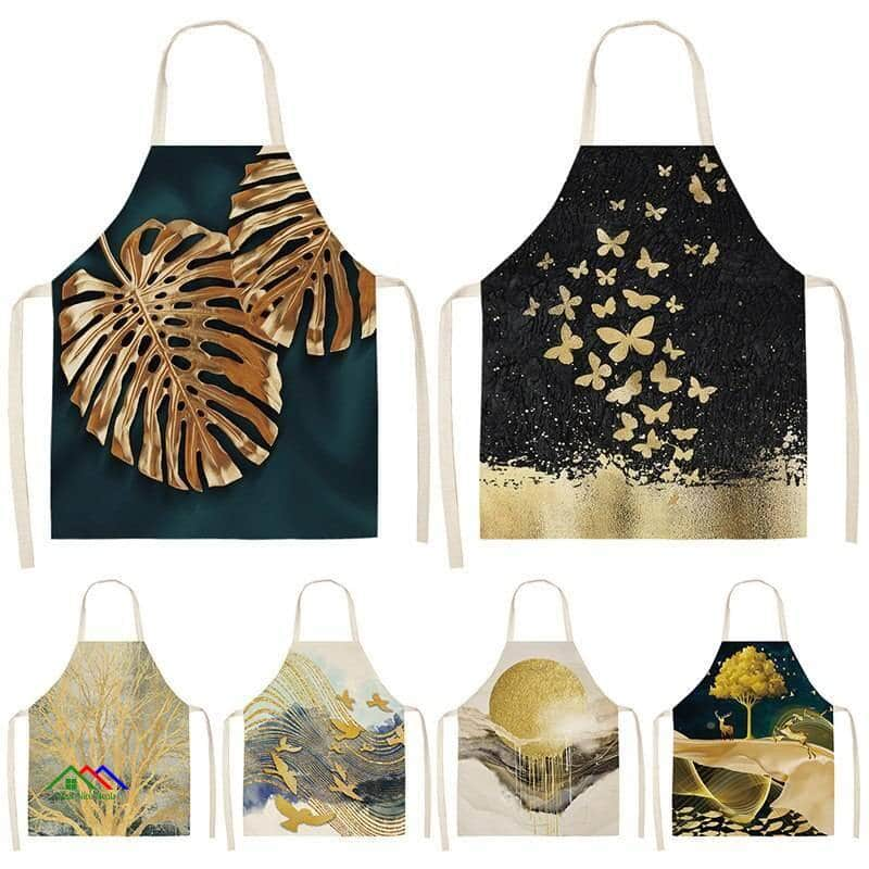 Golden Butterfly Deer Kitchen Apron On Sale Kitchen Aprons