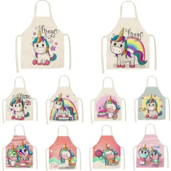 Design Unicorn Printed Graphics Apron Kitchen Aprons
