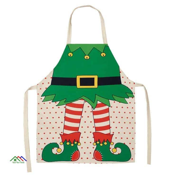 Santa Merry Christmas Kitchen Apron On Sale Kitchen Aprons