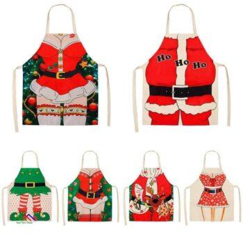 Santa Merry Christmas Kitchen Apron On Sale Kitchen Aprons