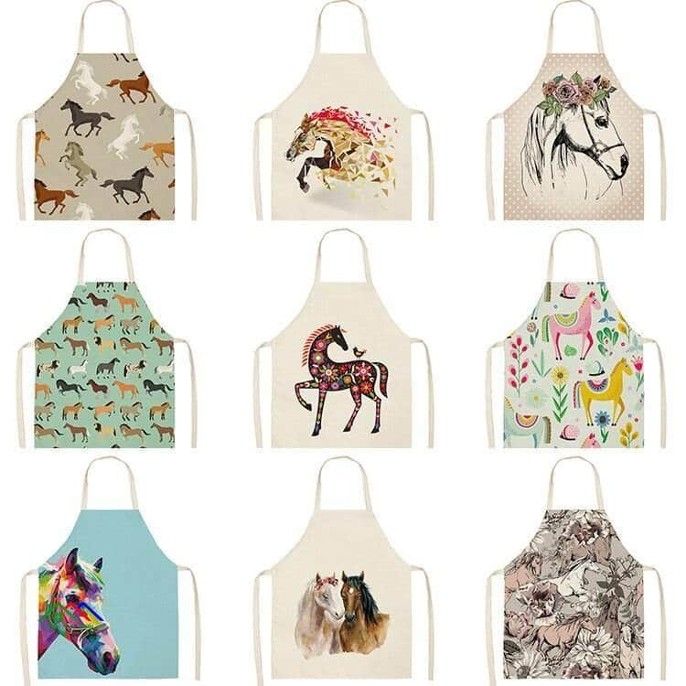 Horse Patterned Design Kitchen Apron Kitchen Aprons