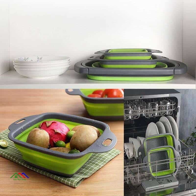 Foldable Strainer Basket Collapsible Colander On Sale Kitchen Colanders