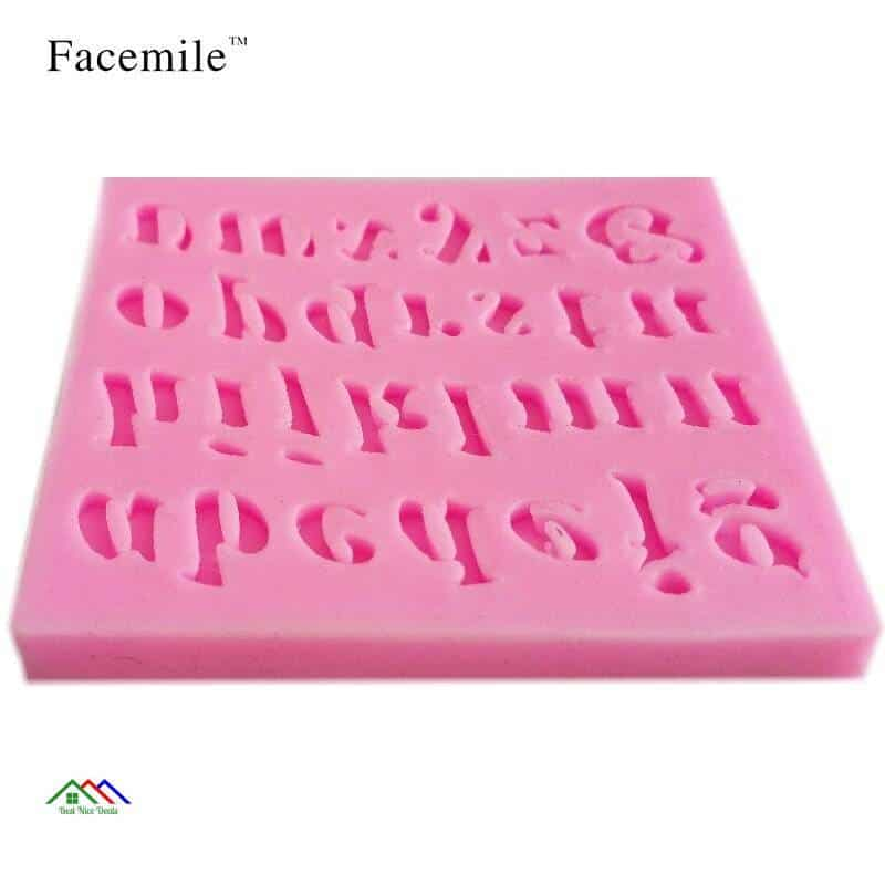 3D Alphabet Gift Silicone Mold Kitchen Silicone Molds