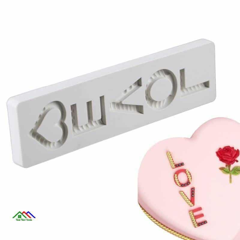 Valentine LOVE Letter Silicone Mold Top Selling Products On Sale Kitchen Silicone Molds