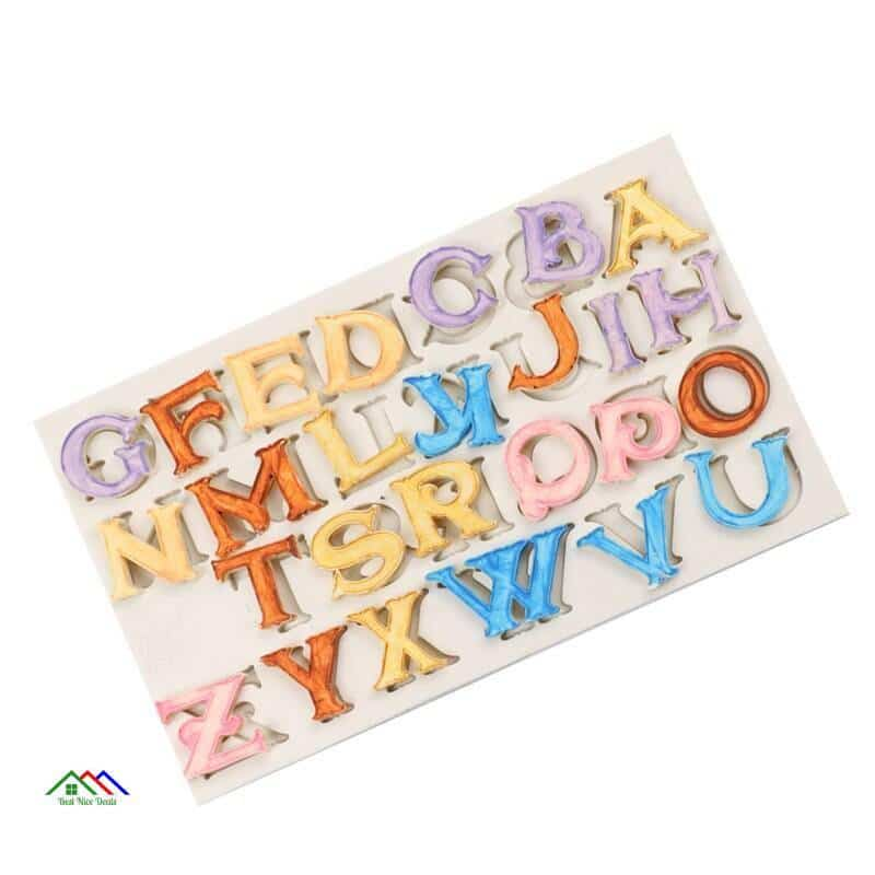 Sugar Craft Capital Letter Silicone Mold New Arrivals On Sale Kitchen Silicone Molds