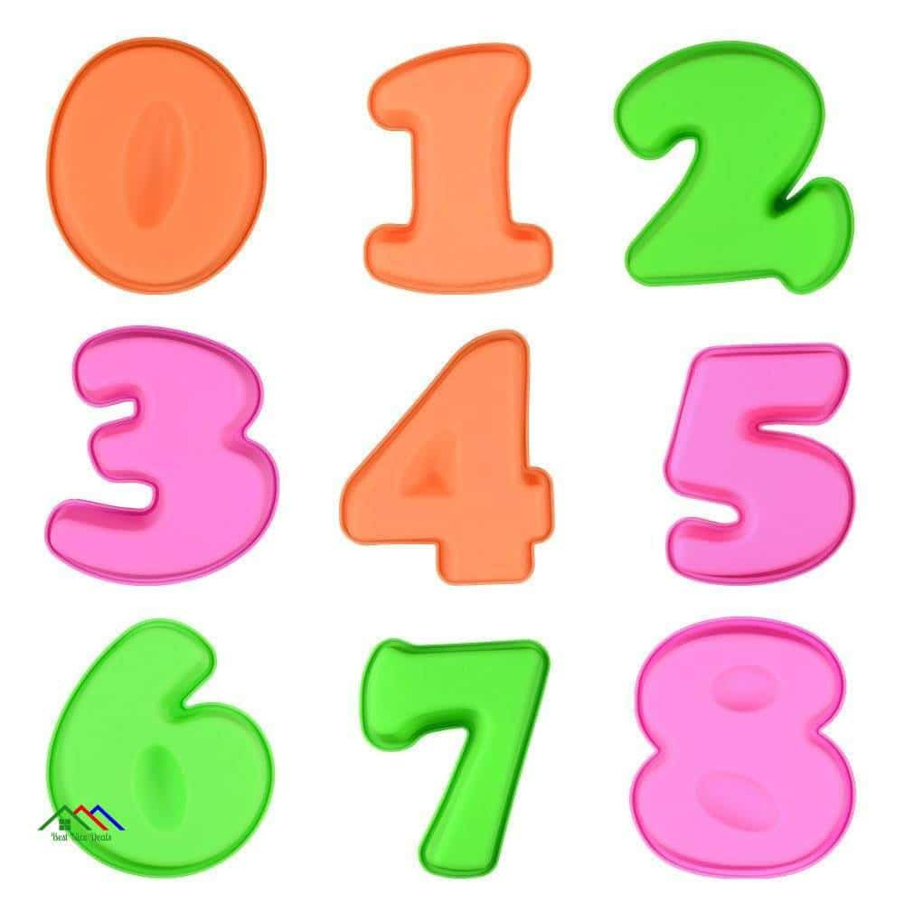Birthday Numbers Silicone Mold On Sale Kitchen Silicone Molds