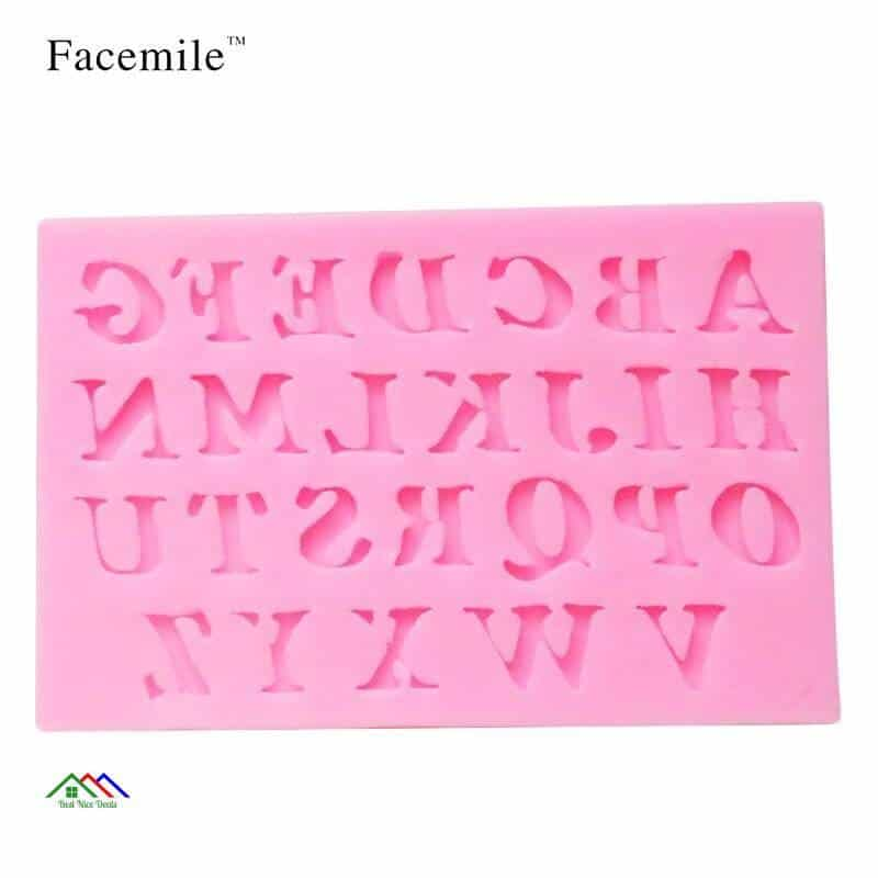 Alphabet Number Letter Character Fondant On Sale Kitchen Silicone Molds