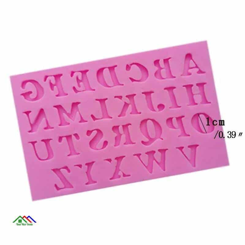 3D 26 English Letters Silicone Mold On Sale Kitchen Silicone Molds