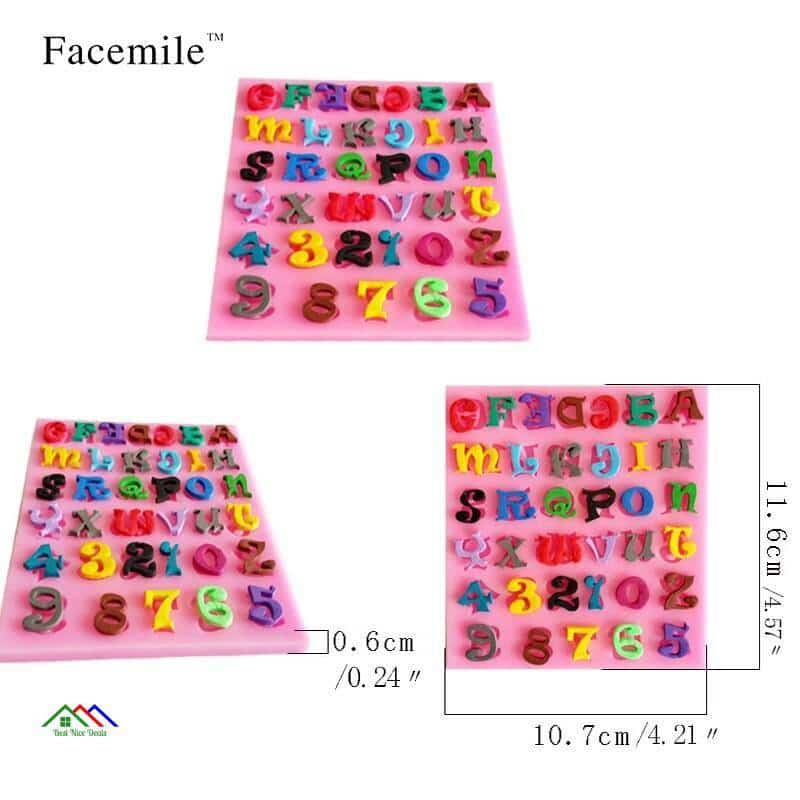 Alphabet Numbers Letters Shaped Silicone Mold On Sale Kitchen Silicone Molds