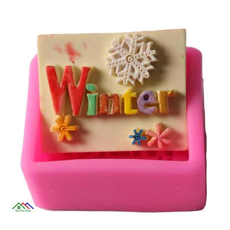 Winter Letter Christmas Silicone Mold On Sale Kitchen Silicone Molds