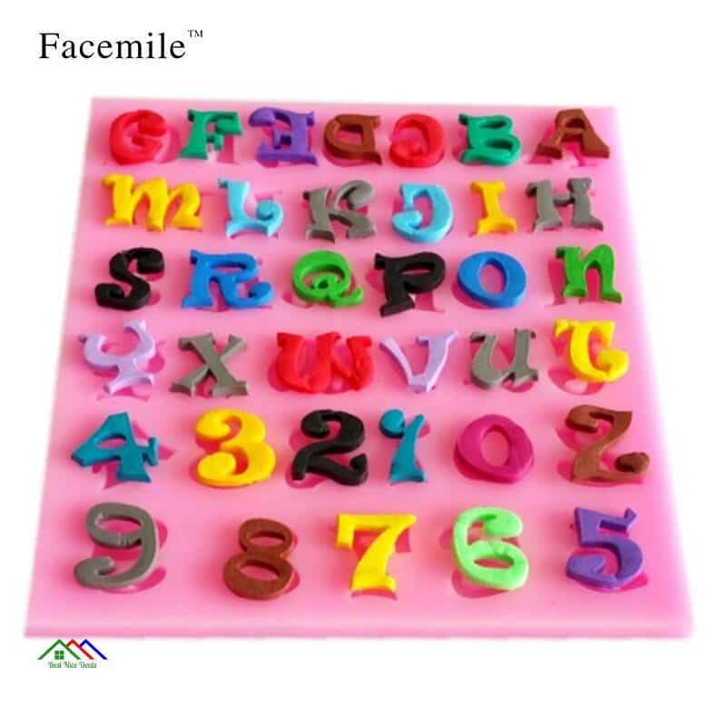 Capital Letter Number Silicone Mold On Sale Kitchen Silicone Molds