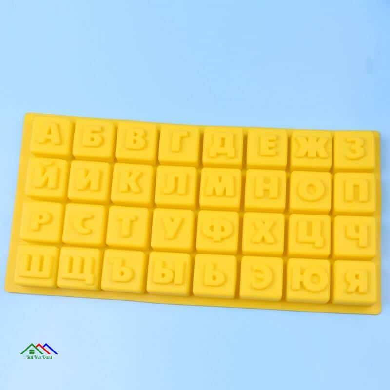 Christmas Russian Alphabet Letters Silicone Mold On Sale Kitchen Silicone Molds