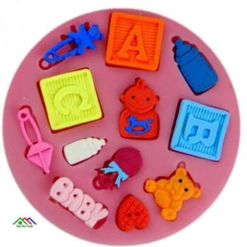 Baby Hand Bottle Trojan Letter Silicone Mold On Sale Kitchen Silicone Molds