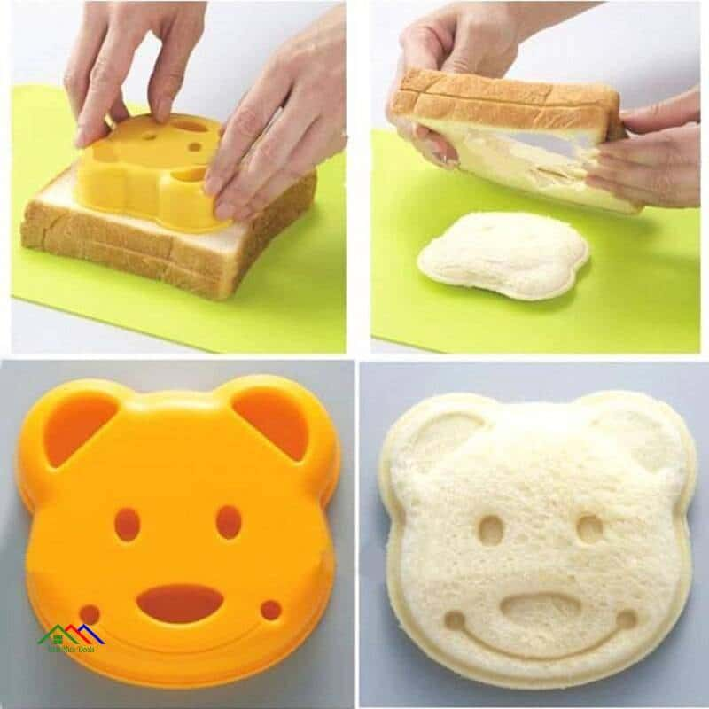 Bear Dolphin Puzzle Shape Mold Cutter Kitchen Kitchen Slicers