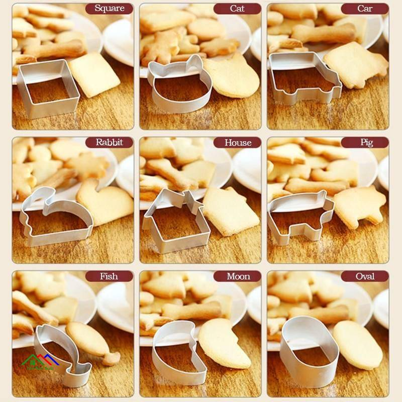 Cookie Cutters Molds Aluminum Alloy Kitchen Kitchen Slicers