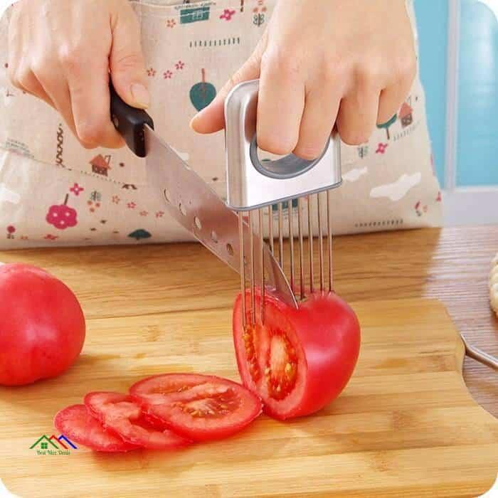 Stainless Steel Holder Slicer Fingers Protector On Sale Kitchen Kitchen Slicers