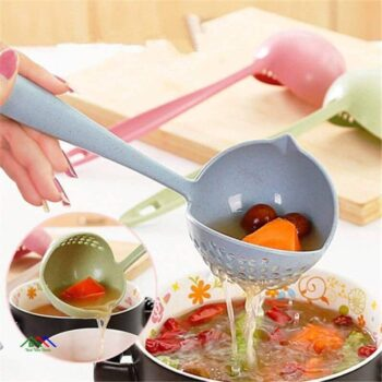 Long Handle Soup Spoon 2 In 1 Strainer Kitchen Colanders