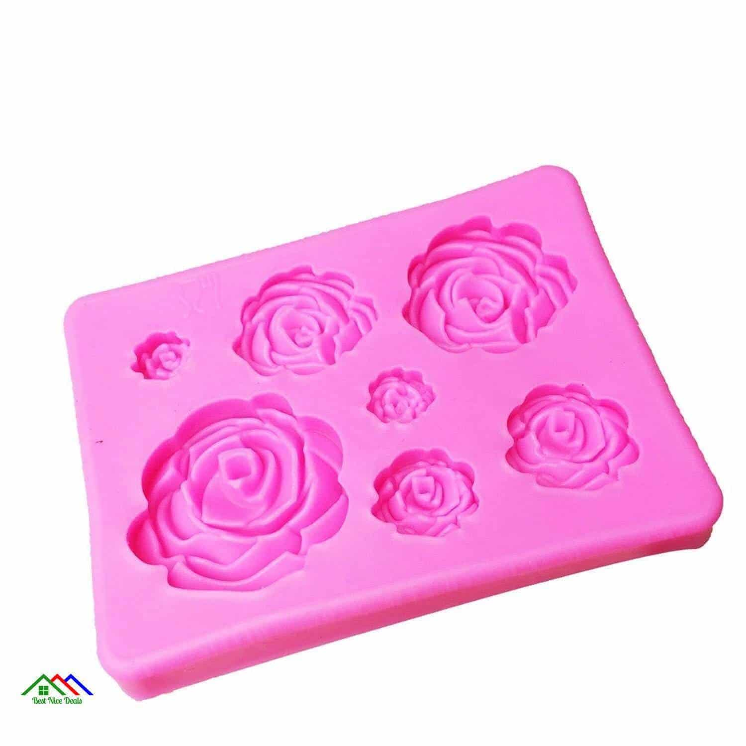 3D Roses Shaped Silicone Mold On Sale Kitchen Silicone Molds