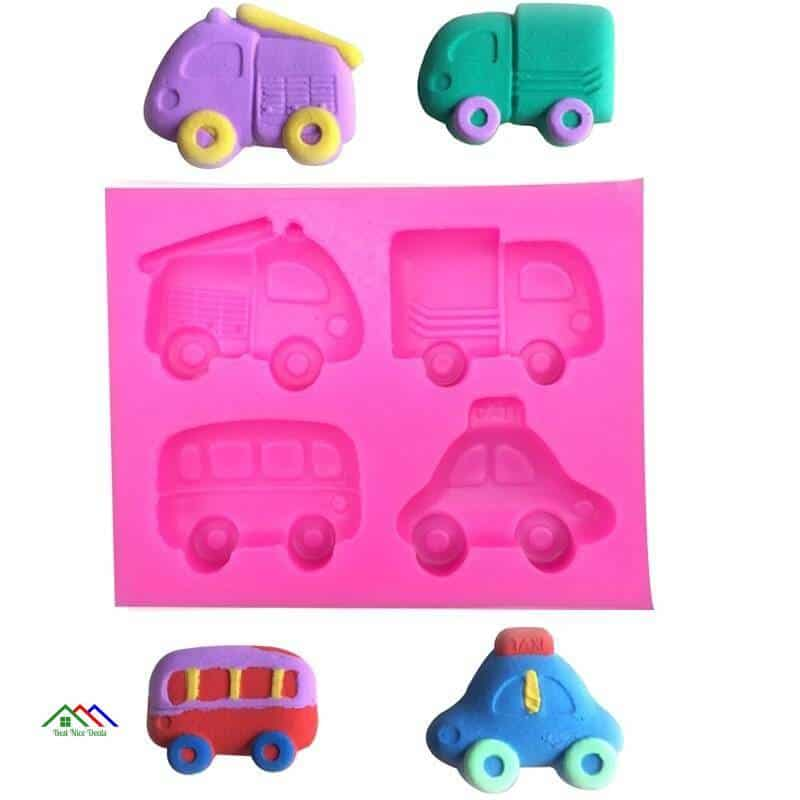 Bus Car Truck Shaped Silicone Mold On Sale Kitchen Silicone Molds