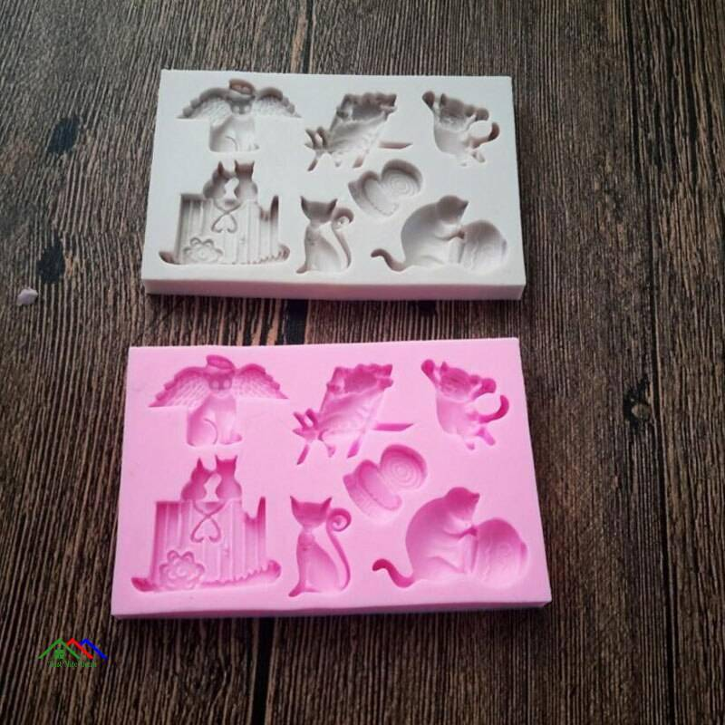 Cat Shaped Silicone Mold On Sale Kitchen Silicone Molds