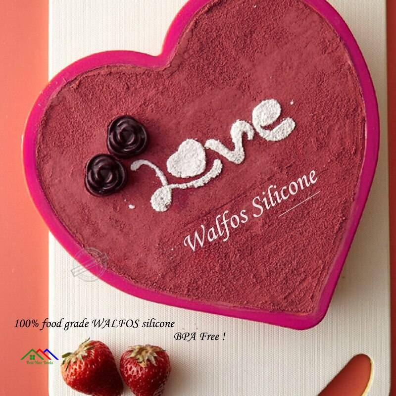 Love Heart Shaped Silicone Mold On Sale Kitchen Silicone Molds