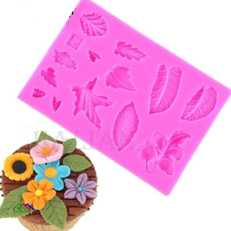 Different Shapes Of Leaves Silicone Mold On Sale Kitchen Silicone Molds