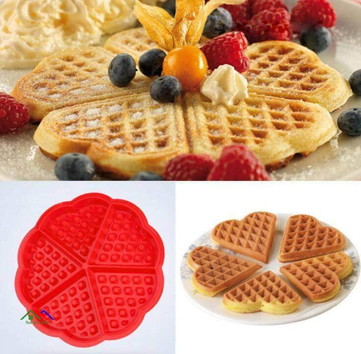 Heart Shaped Waffles Silicone Mold On Sale Kitchen Silicone Molds