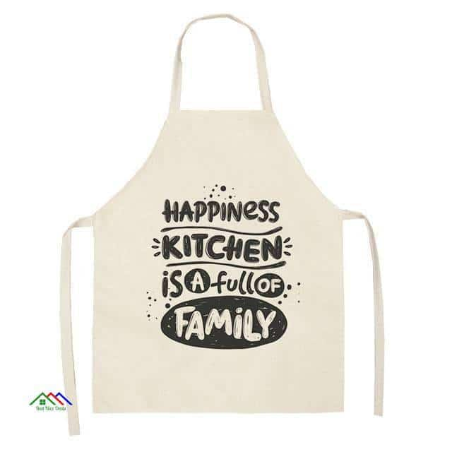 Patterned Design Linen Graphics Apron On Sale Kitchen Aprons