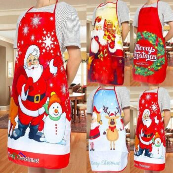 Red Christmas Kitchen Apron Kitchen Aprons