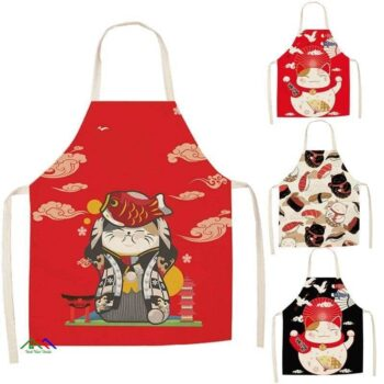 Lucky Cat Kitchen Apron On Sale Kitchen Aprons