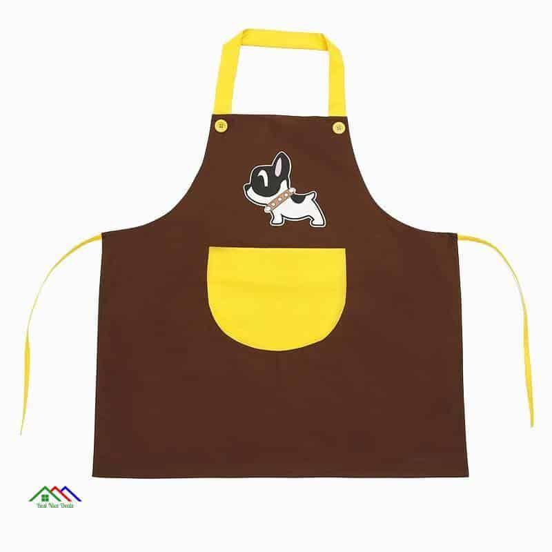 Cute Dog Drawing Waterproof Apron On Sale Kitchen Aprons