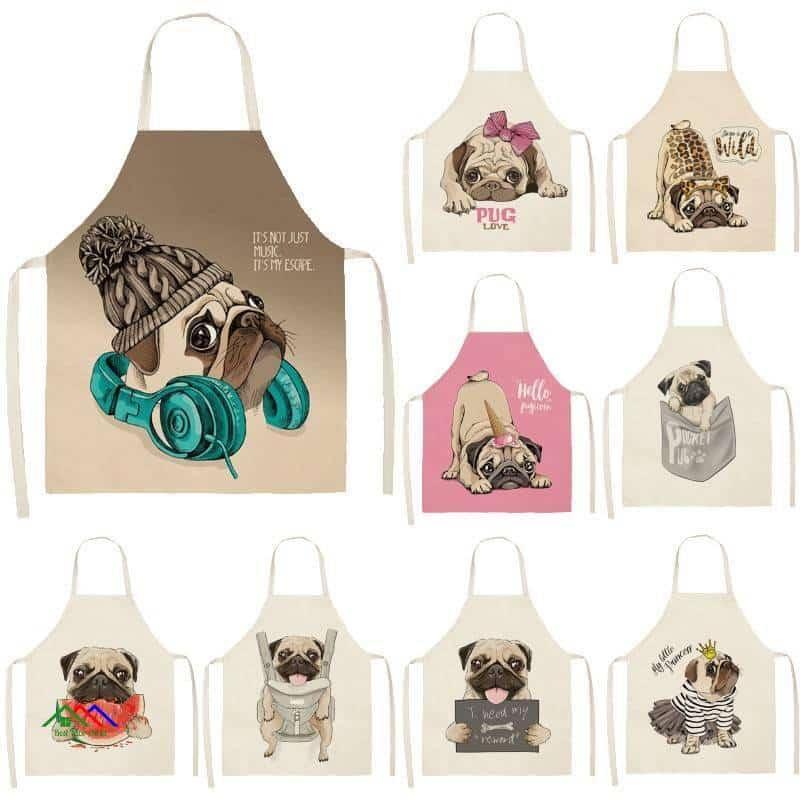 Cute Dog Pattern Kitchen Apron On Sale Kitchen Aprons