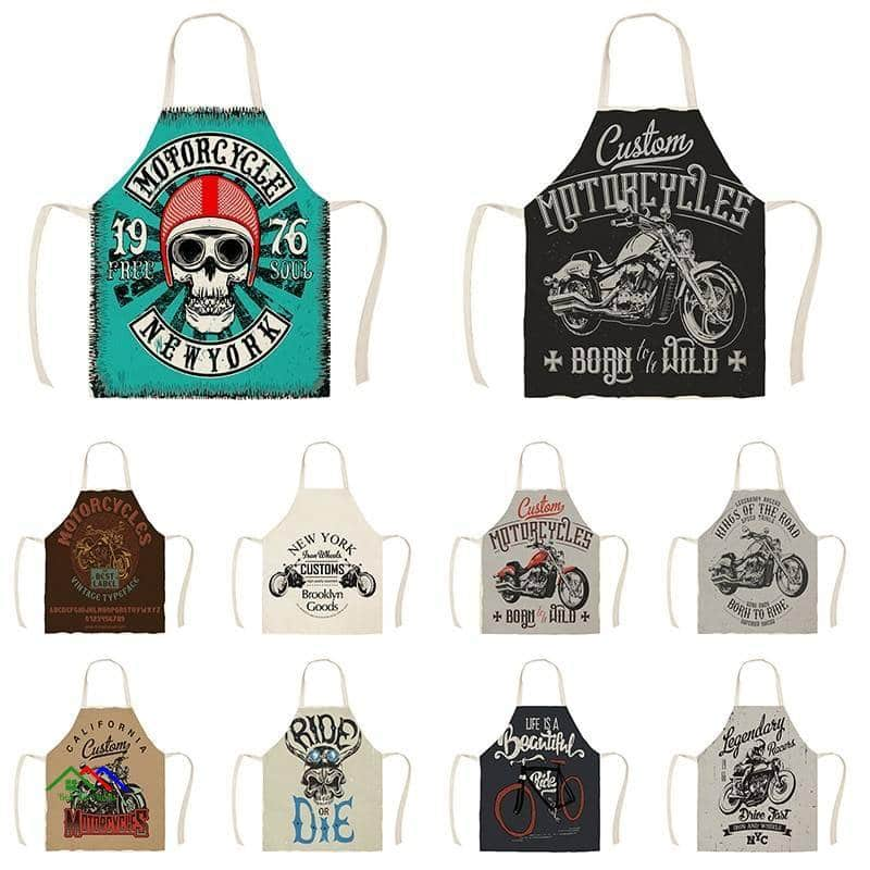 American Style Motorcycle Ride Kitchen Apron On Sale Kitchen Aprons