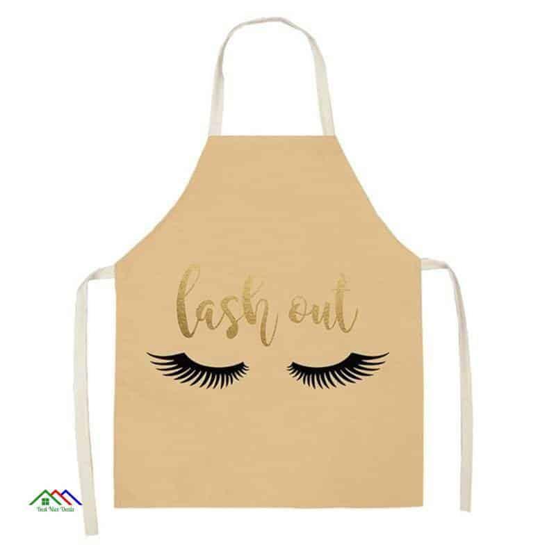 Eyelashes Printed Kitchen Apron On Sale Kitchen Aprons