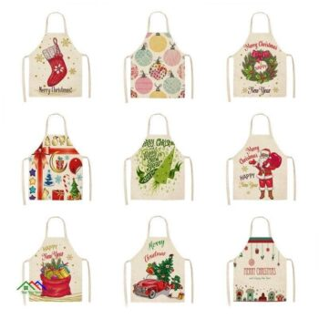 Christmas Day Patterned Design Creative Arts Apron On Sale Kitchen Aprons