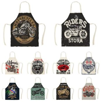 Motorcycle Poster Kitchen Apron Kitchen Aprons