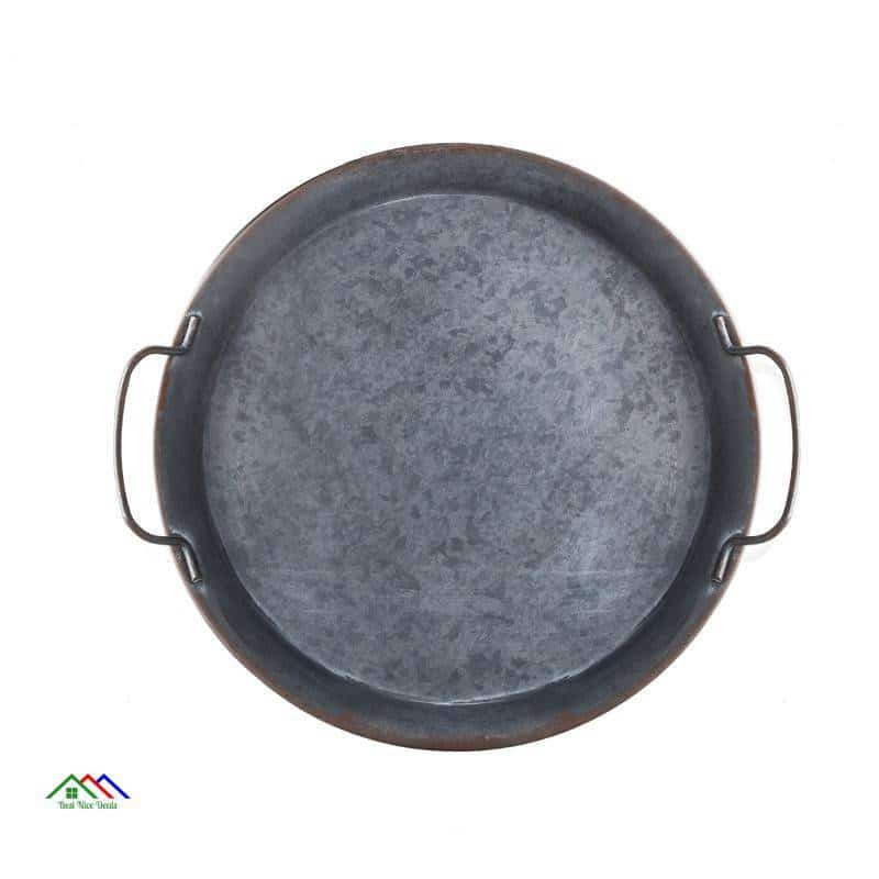Retro European Round Metal Plate On Sale Kitchen Retro Plates