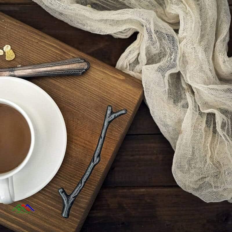 Retro Dessert Tea Wooden Serving Tray On Sale Kitchen Retro Plates