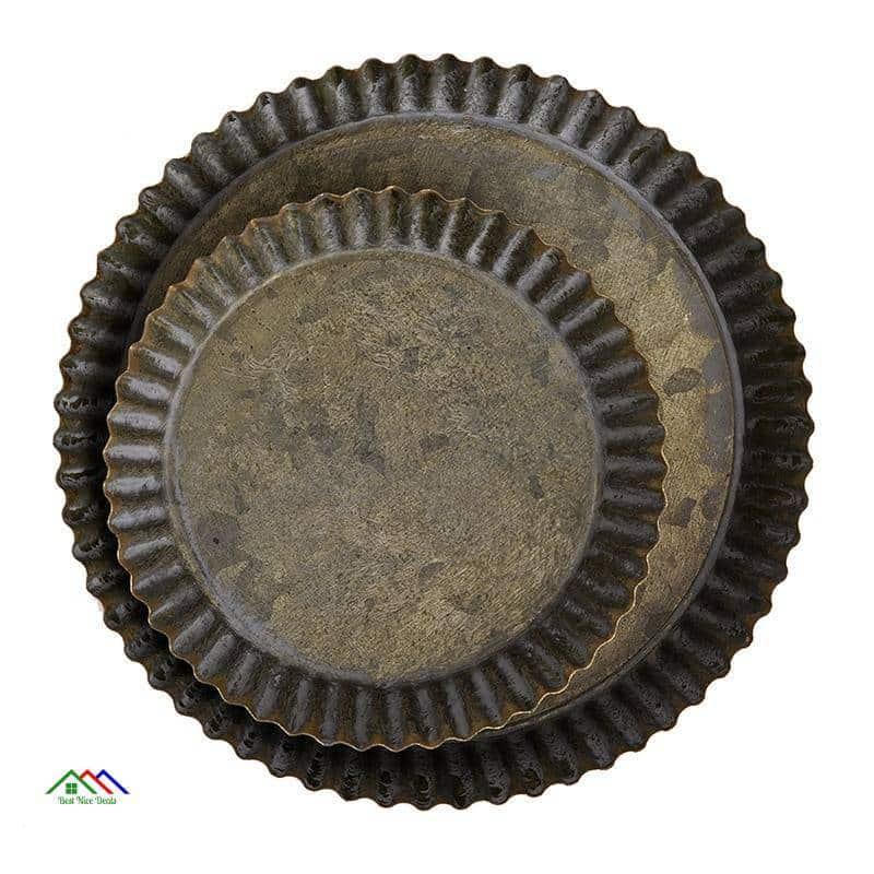 Retro Rustic Metal Plate On Sale Kitchen Retro Plates