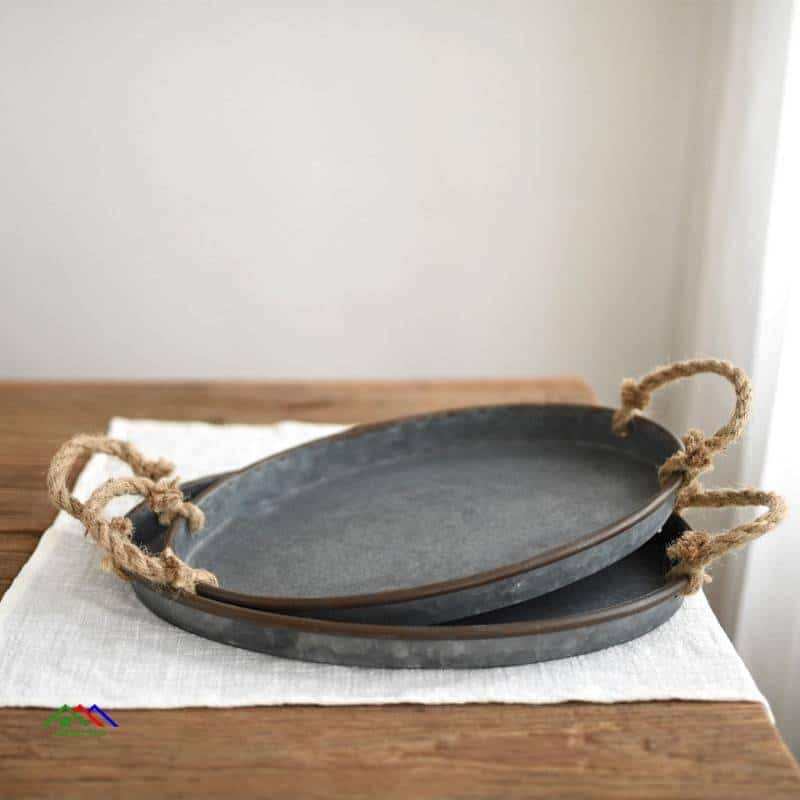 Retro Style Kitchen Metal Tray On Sale Kitchen Retro Plates