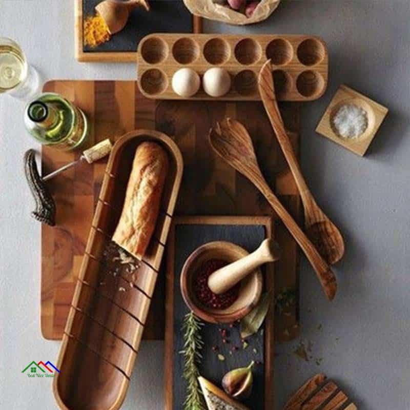 Retro Wooden Japanese Double Egg Storage Rows On Sale Kitchen Retro Plates