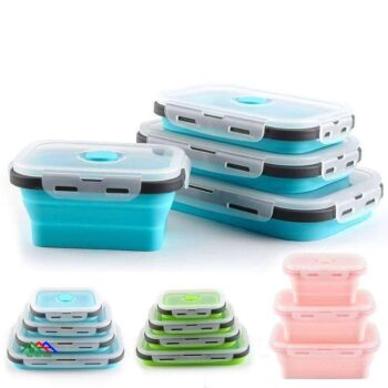 Silicone Collapsible Food Storage Lunch Box On Sale Kitchen Lunch Box